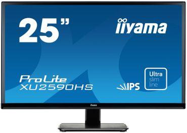 "Iiyama ProLite XU2590HS-B1 - LED-Monitor - 63.5 cm ( 25"" ) - 1920 x 1080 FullHD - AH-IPS - 250 cd/m2 - 5 mio:1 (ACR.) - 5 ms -HDMI, DVI-D, VGA"