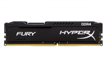 Kingston HyperX FURY - DDR4 - 16 GB : 2 x 8 GB - DIMM 288-PIN - 2666 MHz / PC4-21300 - CL15 - 1.2 V - ungepuffert - nicht-ECC - Schwarz