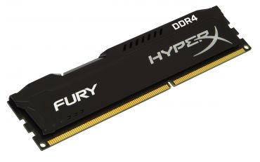 Kingston HyperX FURY - DDR4 - 8 GB : 2 x 4 GB - DIMM 288-PIN - 2400 MHz / PC4-19200 - CL15 - 1.2 V - ungepuffert - nicht-ECC - Schwarz