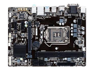 Gigabyte GA-H110M-S2H - 1.0 - Motherboard - Mikro-ATX - LGA1151 Socket - H110 - USB 3.0 - Gigabit LAN - Onboard-Grafik (CPU erforderlich)