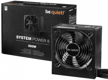 Be Quiet! System Power 8 500W - Stromversorgung ( intern ) - ATX12V 2.4 - 80 PLUS - Wechselstrom 200-240 V - 500 Watt - aktive PFC
