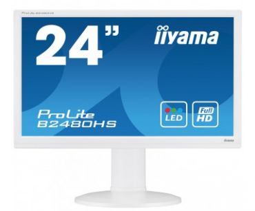 "Iiyama ProLite B2480HS-W2 - Business LED-Monitor - 60 cm ( 23.6"" ) - 1920 x 1080 Full HD -TN -250 cd/m2 - 1 ms - HDMI, DVI-D, VGA - Lautspr. - Weiß"