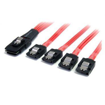 StarTech.com 50cm Serial Attached SCSI SAS Cable SFF-8087 4x Latching SATA - SATA- / SAS-Kabel - Serial ATA 150/300/600