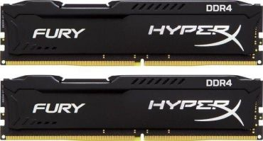 Kingston HyperX FURY - DDR4 - 16 GB : 2 x 8 GB - DIMM 288-PIN - 2400 MHz / PC4-19200 - CL15 - 1.2 V - ungepuffert - nicht-ECC - Schwarz