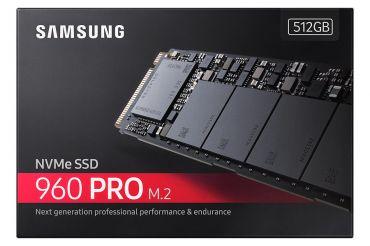 Samsung 960 PRO MZ-V6P512BW - Solid-State-Disk - verschlüsselt - 512 GB - intern - M.2 2280 (M.2 2280) - PCI Express 3.0 x4 (NVMe) - 256-Bit-AES