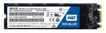 WD Blue PC SSD WDS500G1B0B - Solid-State-Disk - 500 GB - intern - M.2 2280 ( M.2 2280 ) - SATA 6Gb s