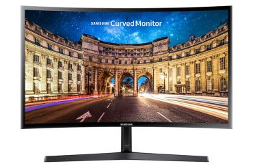"Samsung C27F396FHU - LED-Monitor - 68.6 cm (27"") - 1920 x 1080 - VA - 250 cd/m² - 3000:1 - 4 ms - HDMI, VGA - Shiny Black"