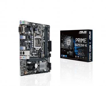 ASUS PRIME B250M-K - Motherboard - Mikro-ATX - LGA1151 Socket - B250 - USB 3.0 - Gigabit LAN - Onboard-Grafik (CPU erforderlich) - HD Audio (8-Kanal)
