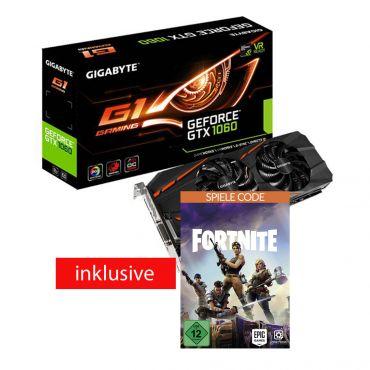 Gigabyte GeForce GTX 1060 G1 Gaming 3G (rev. 1.0) - OC Edition - Grafikkarte - GF GTX 1060 - 3 GB GDDR5 - PCIe 3.0 x16 - DVI, HDMI, 3 x DisplayPort