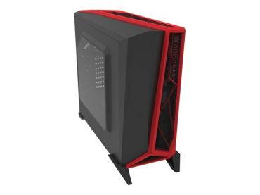Corsair Carbide Series SPEC-ALPHA - Midi Tower - ATX - ohne Netzteil - Schwarz, Rot - USB/Audio - mit Sichtfenster