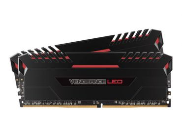 Corsair Vengeance LED - DDR4 - 16 GB: 2 x 8 GB - DIMM 288-PIN - 2666 MHz / PC4-21300 - CL16 - 1.2 V - ungepuffert - nicht-ECC - Rot