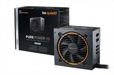 Be Quiet! Pure Power 10 CM - Stromversorgung (intern) - ATX12V 2.4/ EPS12V 2.92 - 80 PLUS Silver - Wechselstrom 100-240 V - 600 Watt - aktive PFC