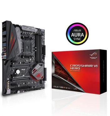 ASUS ROG CROSSHAIR VI HERO - Motherboard - ATX - Socket AM4 - AMD X370 - USB 3.0, USB 3.1, USB-C - Gigabit LAN - HD Audio (8-Kanal)