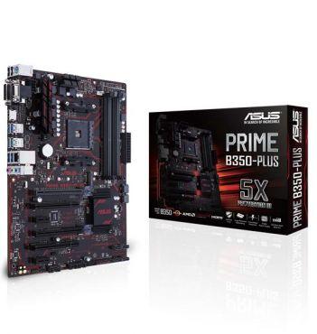 ASUS PRIME B350-PLUS - Motherboard - ATX - Socket AM4 - AMD B350 FCH - USB 3.0, USB 3.1 - Gigabit LAN - Onboard-Grafik (CPU erforderlich) - HD Audio