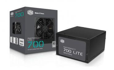 Cooler Master MasterWatt Lite 700 - Stromversorgung (intern) ATX12V 2.31 - 80 PLUS - Wechselstrom 200-240 V - 700 Watt - aktive PFC