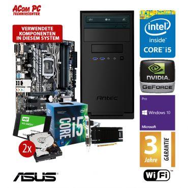 ACom Business CHEF PC 220 - Win10 Pro - Intel Core i5-7500 - 16 GB RAM - 240 GB SSD + 2x 1TB HDD Raid - DVD-Brenner - GT 730 - WLAN - 3 Jahre Garantie
