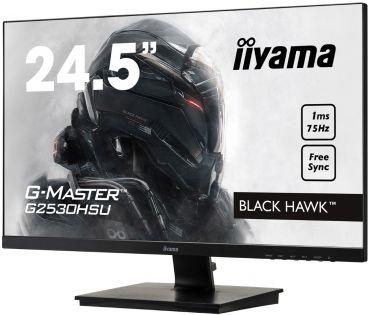 """Iiyama G-Master G2530HSU-B1 Black Hawk - LED-Monitor - 62.2 cm (24.5"""") - 1920 x 1080 Full HD - TN matt - 1 ms - VGA DP HDMI - Lautsprecher"""