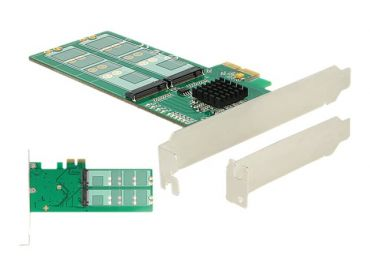 Delock PCI Express x2 Card > 4 x internal M.2 Key B Low Profile Form Factor - Speicher-Controller - M.2 Card Low Profile - PCIe 2.0 x2