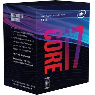 Intel Core i7-8700K (Coffee Lake) - 3.7 GHz - 6 Kerne - 12 Threads - 12 MB Cache-Speicher - LGA1151 Socket - Box