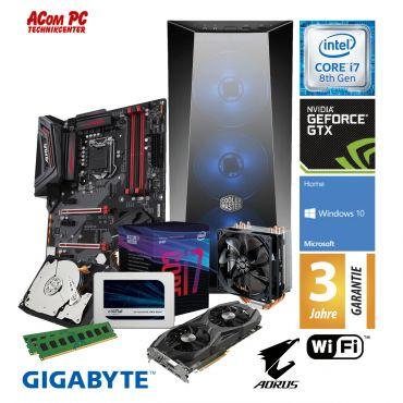 ACom Intel Gen. 8 Gaming 2018 - G8 i7-1070 - Win 10 - Intel Core i7-8700 - 16 GB RAM - 525 GB SSD + 2 TB HDD - GTX 1070 8GB - WLAN / Bluetooth