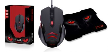 INCA IMG-359 - 3200 DPI - 6D Wired Gaming Mouse+Mousepad