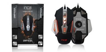 INCA IMG-317 - 3200 DPI - 8D Black Gaming Mouse