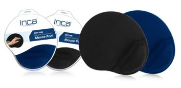 INCA Mauspad mit Silikon Gel Handauflage - Schwarz/Blau