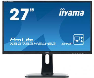 "Iiyama ProLite XB2783HSU-B3 - LED-Monitor - 68.6 cm (27"") - 1920 x 1080 Full HD (1080p) - A-MVA+ - 300 cd/m² - 3000:1 - 4 ms - HDMI, VGA, DP, Lautspr."