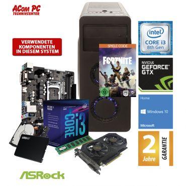 ACom Angebot des Monats Gaming i3-1050 Ti - Win 10 - Intel Core i3-8100 - 8 GB RAM - 240 GB SSD + 1 TB HDD - DVD-Brenner - GeForce GTX 1050TI 4 GB