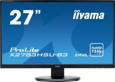 "Iiyama ProLite X2783HSU-B3 - LED-Monitor - 68.6 cm (27"") - 1920x1080 - A-MVA+ - 300 cd/m² - 3000:1 - 4 ms - HDMI, VGA, DP - Lautsprecher - Schwarz"