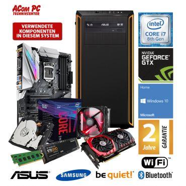 ACom Ultra Gamer 1070 - Win 10 - Intel Core i7-8700K - 16 GB RAM - 500 GB SSD M.2 NVMe + 2 TB HDD - DVD-Brenner - GeForce GTX 1070