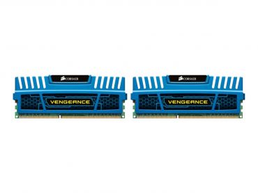 Corsair Vengeance - Memory - 8 GB : 2 x 4 GB - DIMM 240-PIN - DDR3 - 1600 MHz / PC3-12800 - CL9 - 1.5 V - ungepuffert - nicht-ECC - Blau