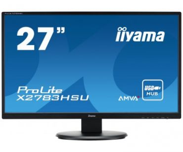 """Iiyama ProLite X2783HSU-B1 -68.6cm (27"""") - 1920x1080 - 16:9 - 250cd/m² Kontrast: 5000000:1 dyn. - 4ms - VGA, DVI, HDMI, 2x USB, Lautspr. - schwarz"""