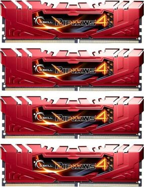 G.Skill Ripjaws 4 Series - DDR4 - 32 GB: 4 x 8 GB - DIMM 288-PIN - 2666 MHz / PC4-21300 - CL15 - 1.2 V - ungepuffert - nicht-ECC - Rot