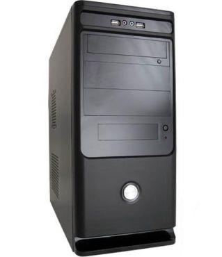 LC Power Classic 7010B - Midi Tower ATX - mit 350 Watt Netzteil (ATX12V 2.31) - Schwarz - USB/Audio