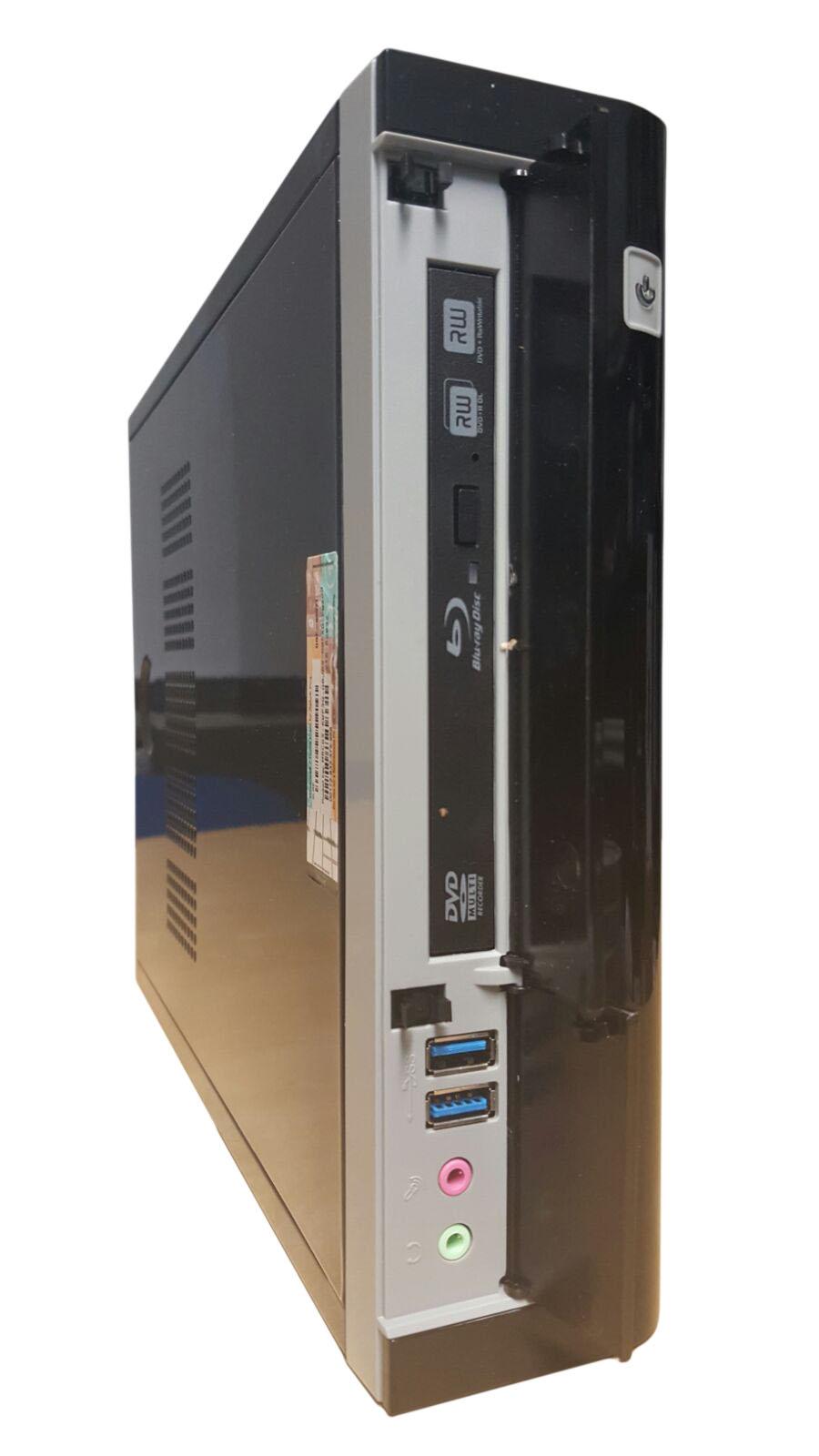 AMicro Wohnzimmer PC 310 schwarz   Windows 7 HP   Intel