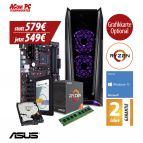 ACom Ultra Gamer - Win 10 - AMD Ryzen 3 1300X - 8 GB RAM - 120 GB SSD + 1 TB HDD - 500 Watt Netzteil - Grafikkarte optional