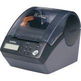 Brother P-Touch QL-650TD | Etikettendrucker | S/W | direkt thermisch | Rolle (6,2 cm) | 300 dpi | bis zu 90 mm/Sek. | Kapazität: 1 Rollen | seriell, U