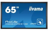 "Iiyama ProLite TH6564MIS-B2AG - LED-Monitor - 164 cm ( 65"" ) - Multi-Touch - 1920 x 1080 FullHD - AMVA3 - 4000.:1 - 8 ms - HDMI, DVI-D, DP, -S-Video"