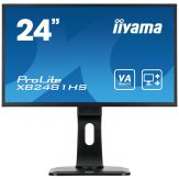 "Iiyama ProLite XB2481HS-B1 - Business LED-Monitor - 61 cm (24"") - 1920 x 1080 Full HD - VA - 250 cd/m² - 3000:1 - 6 ms - HDMI, DVI-D, VGA - Lautspr."