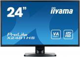 "Iiyama ProLite X2481HS-B1 LED-Monitor - 60 cm (  23.6"" ) 1920 x 1080- VA - 250 cd/m2 - 16.7Mio.:1 (ACR.) - 6 ms - Lautsprecher - DVI-D, HDMI, VGA"