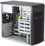 Supermicro SC731 i-300B - Midi Tower - Mikro-ATX 300 Watt - Schwarz - USB