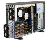 Supermicro SuperChassis 747BTQ-R1K62B - Workstation Gehäuse mit Netzteil 1620 W redundant - 80Plus Platin - SSI EEB - für 4x GPU