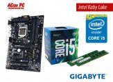 Aufrüstkit Intel L - CPU: Intel Core i5 7400 Kaby  3 GHz 4 Kerne + Motherboard: Gigabyte B150- ATX + RAM: 8 GB ( 2 x 4 GB ) DDR3 1600 MHz