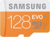 Samsung EVO MB-MP128DA - Flash-Speicherkarte ( microSDHC/SD-Adapter inbegriffen ) - 128 GB - UHS Class 1 / Class10 - microSDXC UHS-I