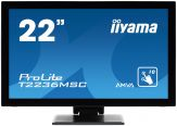 "Iiyama ProLite T2236MSC-B2 - LED-Monitor - 55.9 cm ( 22"" ) - Multi-Touch - 1920 x 1080 FullHD - 3000:1 - 8 ms - HDMI, DVI-D, VGA - Lautsprecher"