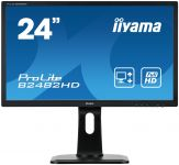 "Iiyama ProLite B2482HD-B1 - LED-Monitor - 61 cm (24"") - 1920 x 1080 Full HD (1080p) - TN - 250 cd/m² - 1000:1 - 5 ms - DVI-D, VGA - Schwarz"