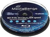 MediaRange - 10 x BD-R DL - 50 GB 6x - Spindel