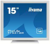 """Iiyama TFT T1531SR-W3 - LCD-Monitor - 38 cm ( 15"""" ) - 1024 x 768 - TN - 200 cd/m2 - 500:1 - 8 ms - DVI-D, VGA - Lautsprecher - weiß"""