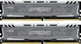 Crucial Ballistix Sport LT - DDR4 - 16 GB: 2 x 8 GB - DIMM 288-PIN - 2400 MHz / PC4-19200 - CL16 - 1.2 V - ungepuffert - nicht-ECC - Grau